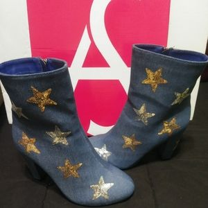 Ashley Stewart Denim Boots